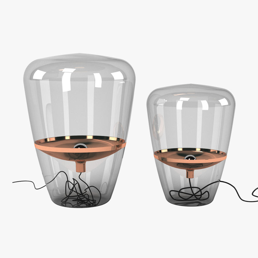 Brokis Kupfer Lamp Set royalty-free 3d model - Preview no. 1