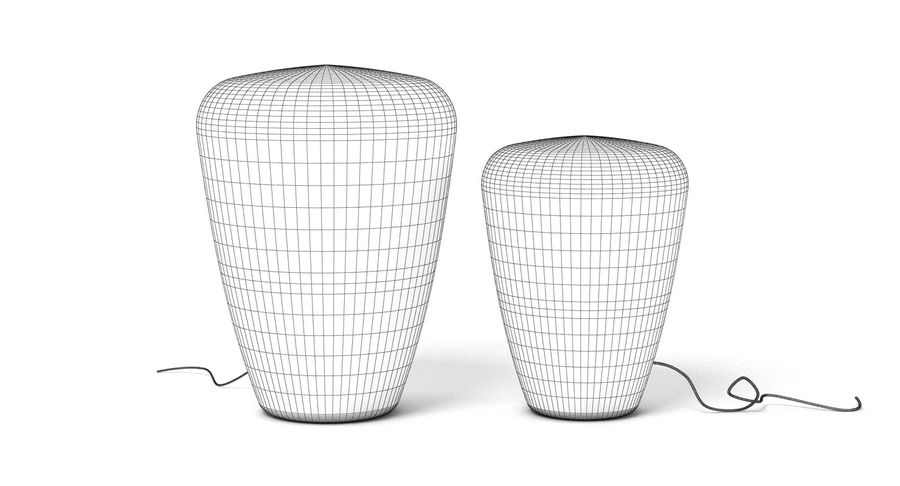 Brokis Kupfer Lamp Set royalty-free 3d model - Preview no. 4