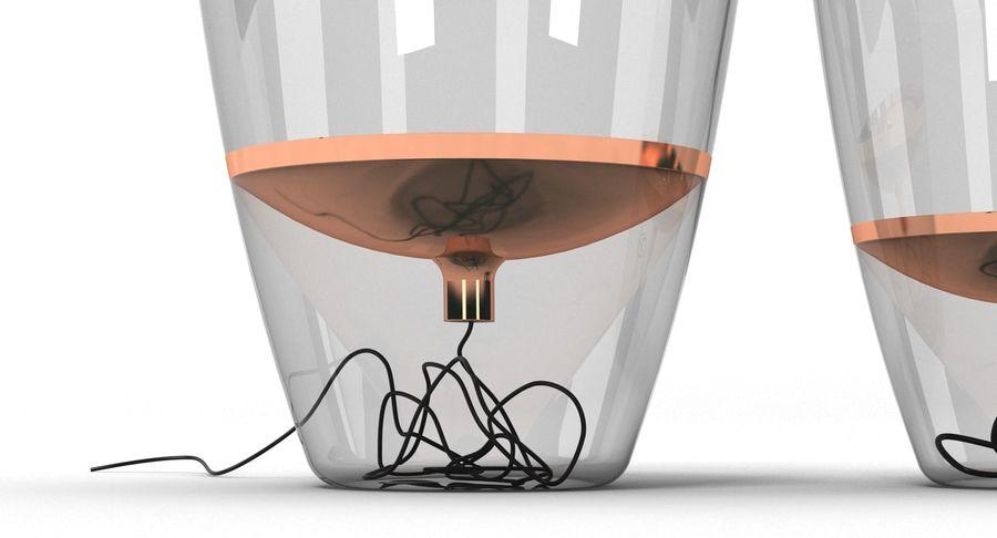 Brokis Kupfer Lamp Set royalty-free 3d model - Preview no. 6