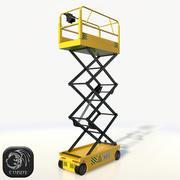 Scissor Lift Pose B low poly 3d model