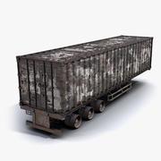 Cargo Trailer Burnt 3d model
