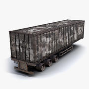 货物拖车被烧毁 3d model