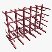 Racks de stockage 3d model