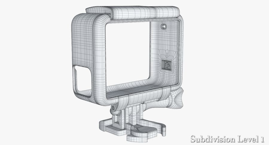 GoPro HERO 5 Frame royalty-free 3d model - Preview no. 22