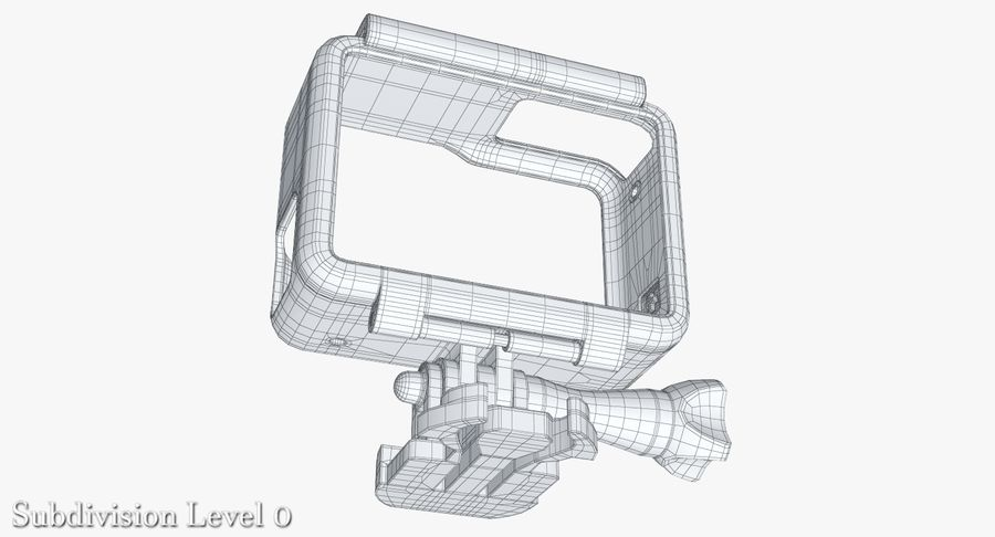 GoPro HERO 5 Frame royalty-free 3d model - Preview no. 23