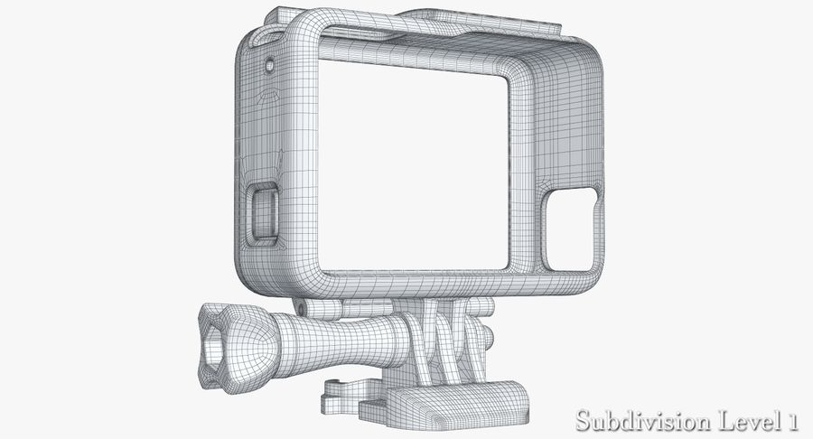 GoPro HERO 5 Frame royalty-free 3d model - Preview no. 14