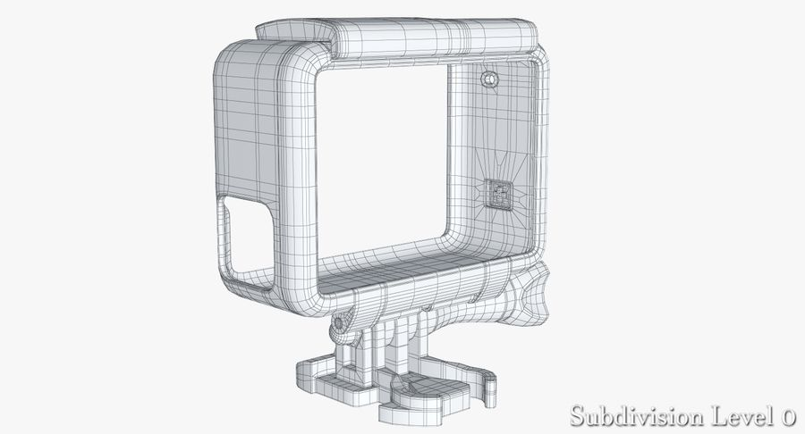 GoPro HERO 5 Frame royalty-free 3d model - Preview no. 21