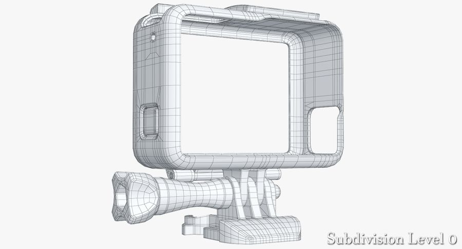GoPro HERO 5 Frame royalty-free 3d model - Preview no. 13