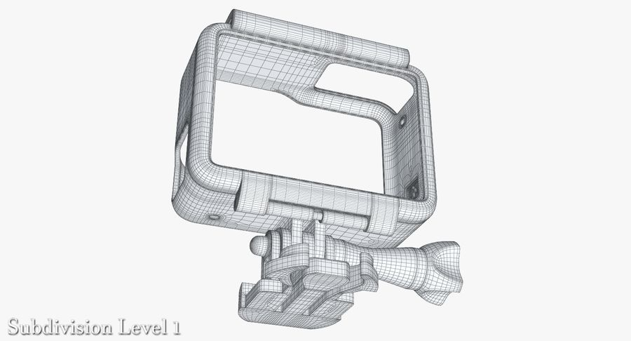 GoPro HERO 5 Frame royalty-free 3d model - Preview no. 24