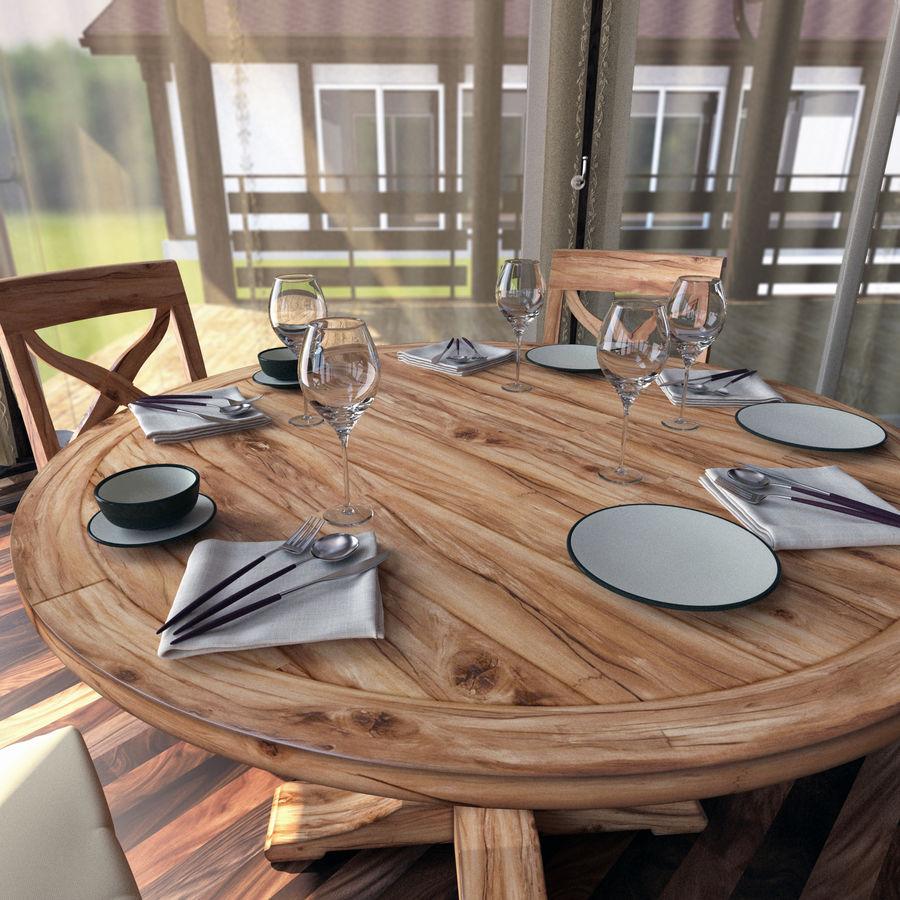 Столовые приборы ложка вилка нож royalty-free 3d model - Preview no. 3