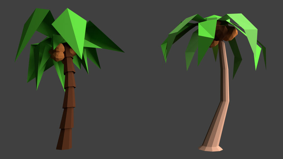 Arbres low poly royalty-free 3d model - Preview no. 13