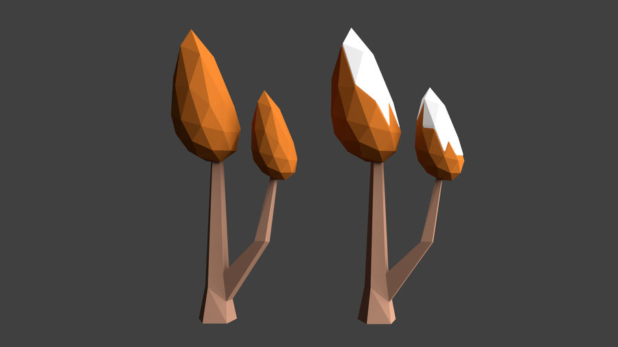 Arbres low poly royalty-free 3d model - Preview no. 16