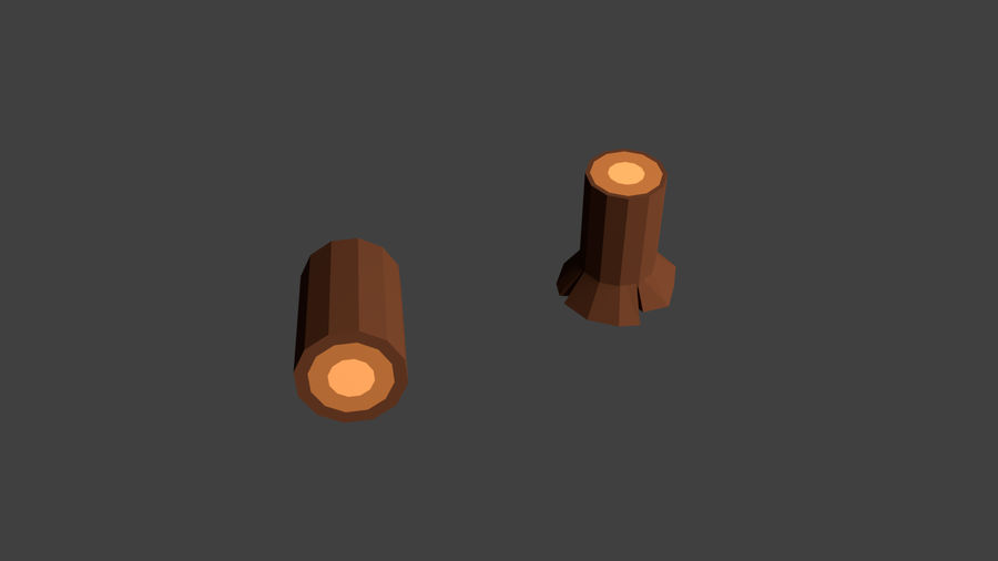 Arbres low poly royalty-free 3d model - Preview no. 11
