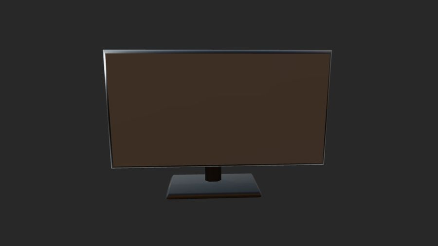 Plasma,led TV / Monitor royalty-free 3d model - Preview no. 4
