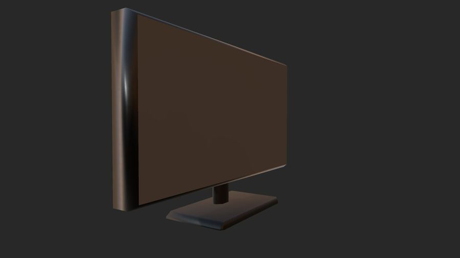 Plasma,led TV / Monitor royalty-free 3d model - Preview no. 1
