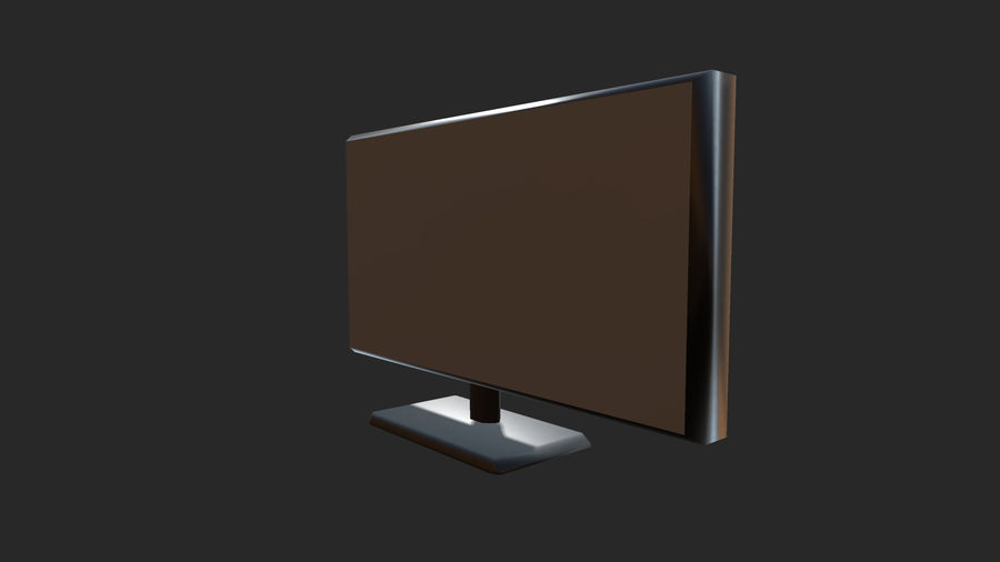 Plasma,led TV / Monitor royalty-free 3d model - Preview no. 3