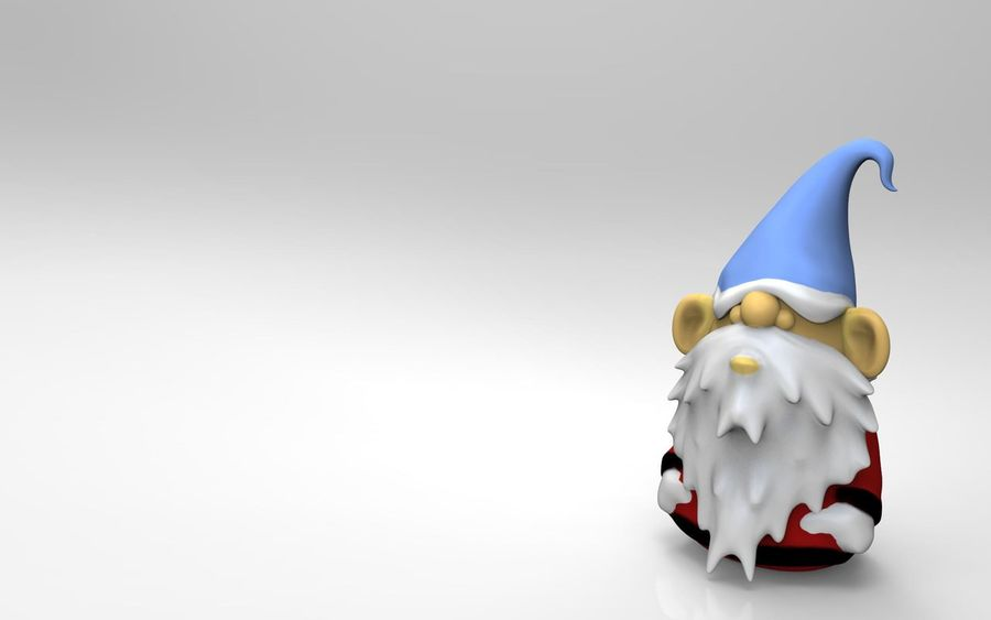 Desktop Gnome royalty-free 3d model - Preview no. 1