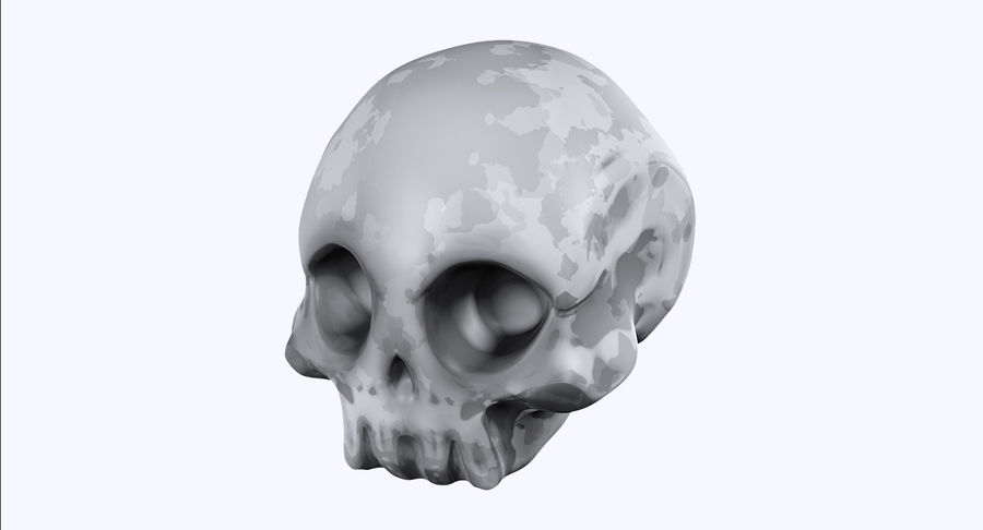 Skull royalty-free 3d model - Preview no. 1