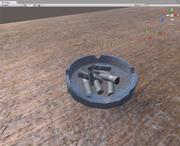 Aschenbecher mit Kolben Low Poly 3d model