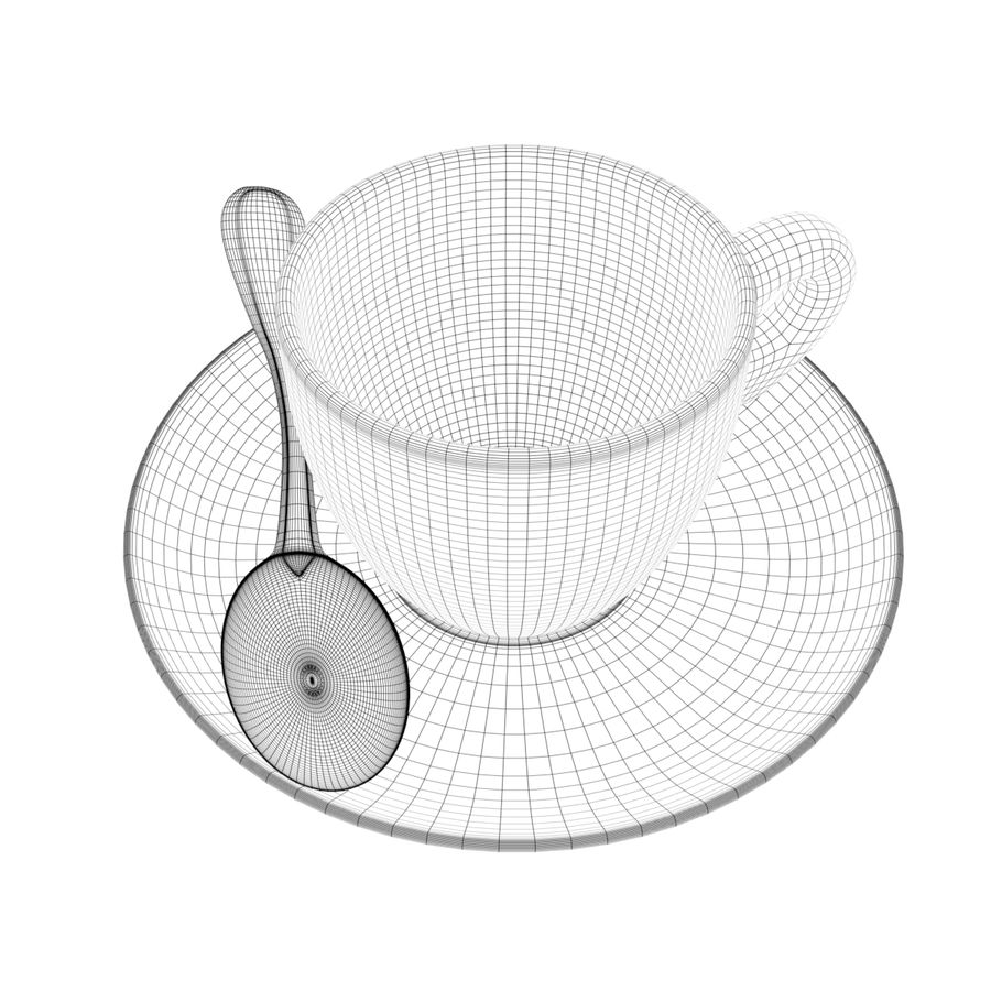 Coffee cup royalty-free 3d model - Preview no. 8