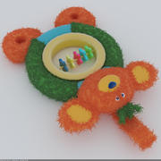 Toy monkey plush 3d model