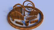Ativo de madeira 3d model