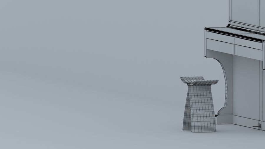 fortepian royalty-free 3d model - Preview no. 7