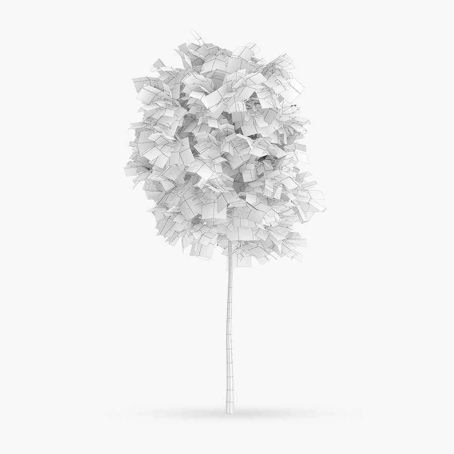 Common Hornbeam Tree 1.7m royalty-free 3d model - Preview no. 2