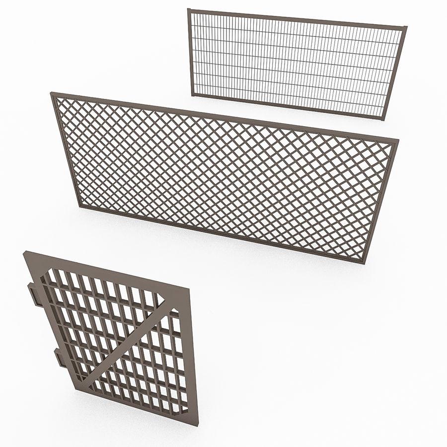 Portões e cercas de metal royalty-free 3d model - Preview no. 2