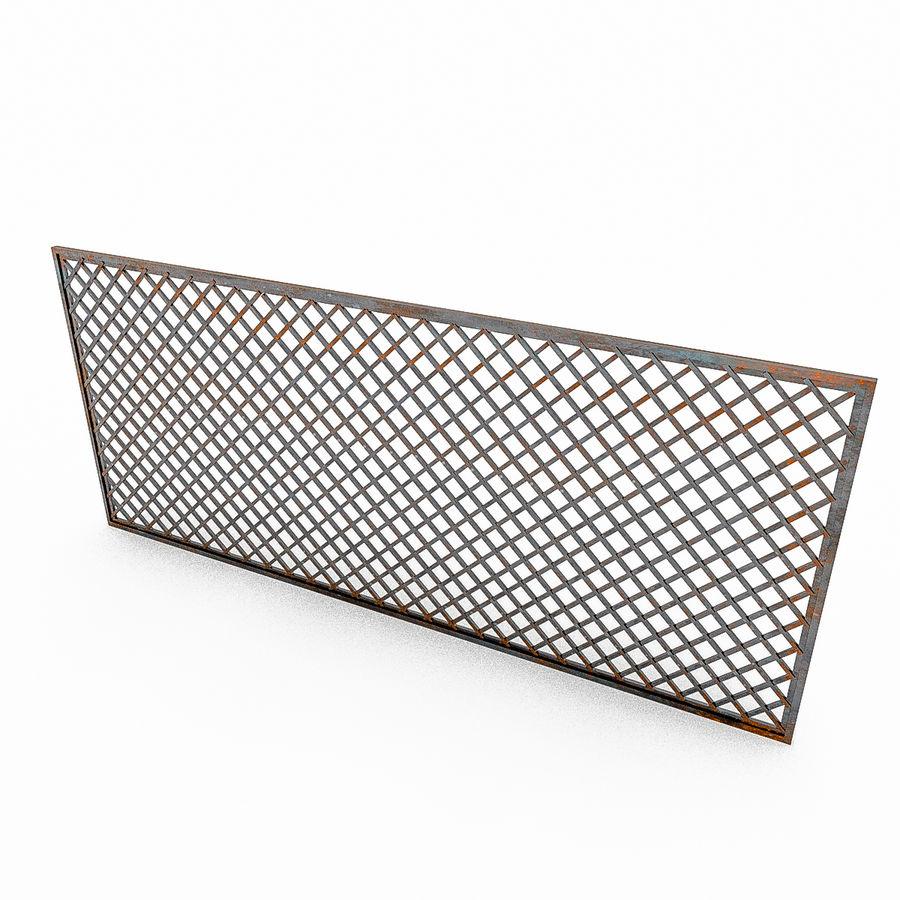Portões e cercas de metal royalty-free 3d model - Preview no. 7