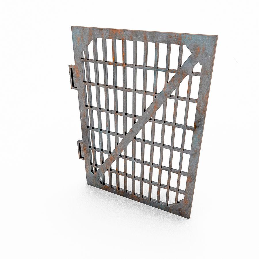 Portões e cercas de metal royalty-free 3d model - Preview no. 6