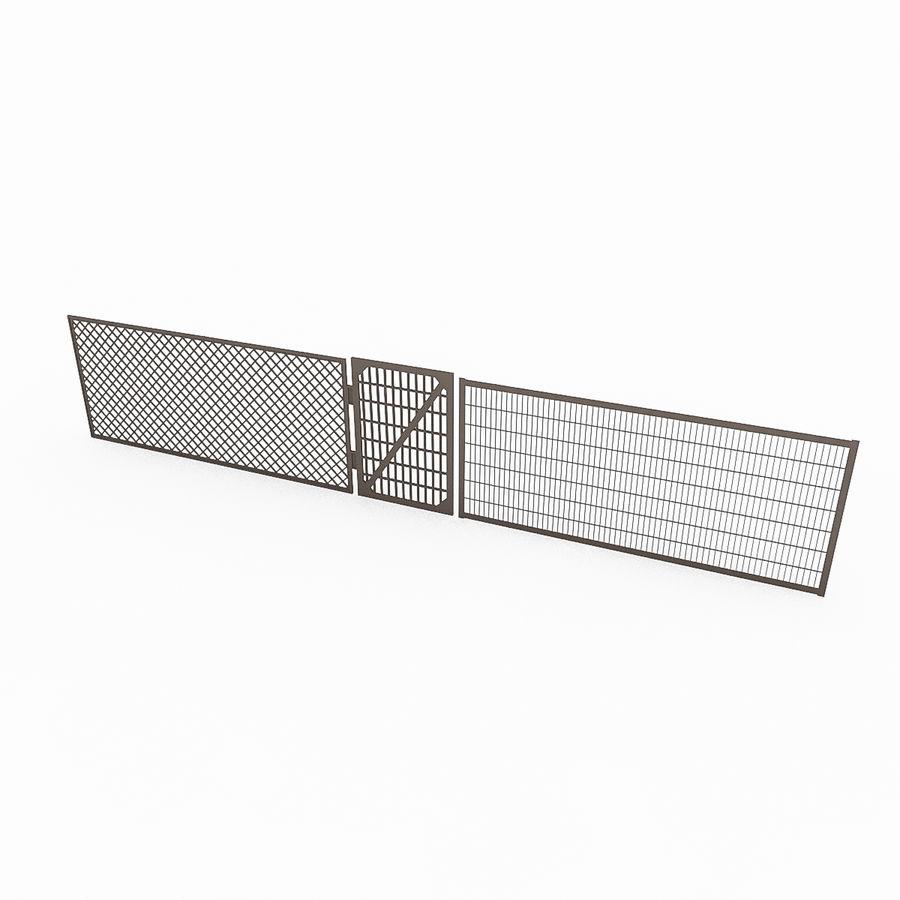 Portões e cercas de metal royalty-free 3d model - Preview no. 4