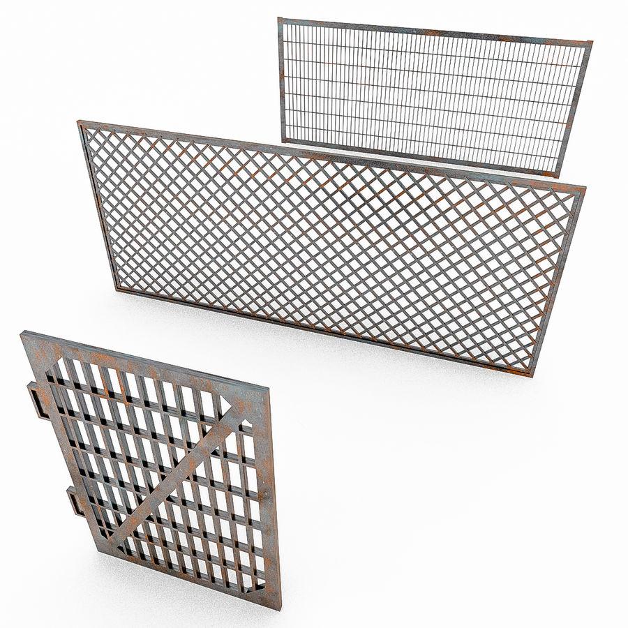 Portões e cercas de metal royalty-free 3d model - Preview no. 1