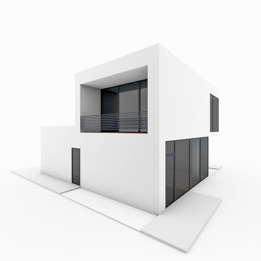 Casa moderna mínima royalty-free 3d model - Preview no. 5