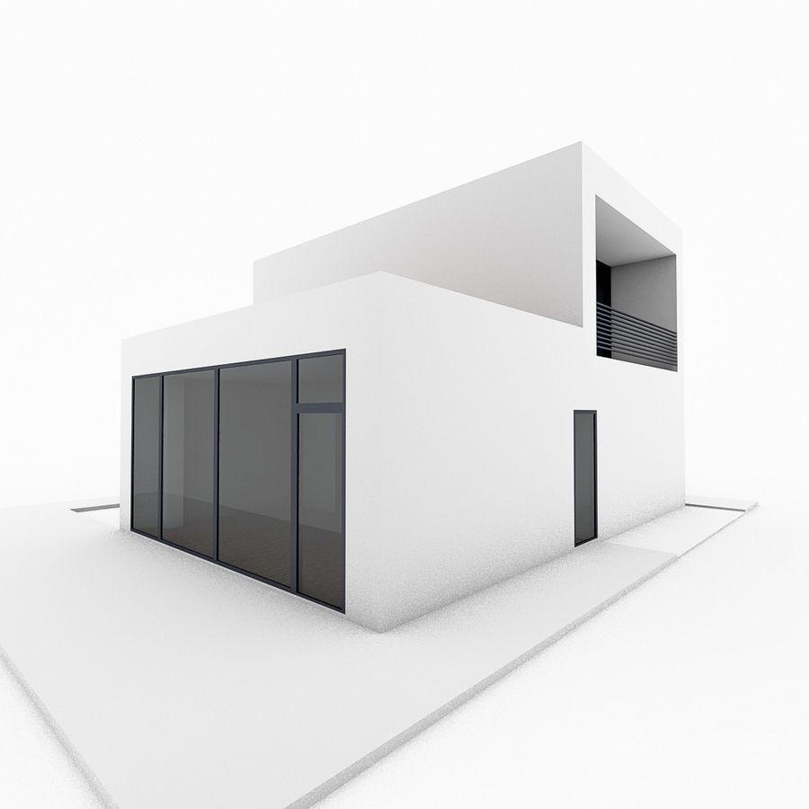 Casa moderna mínima royalty-free 3d model - Preview no. 4