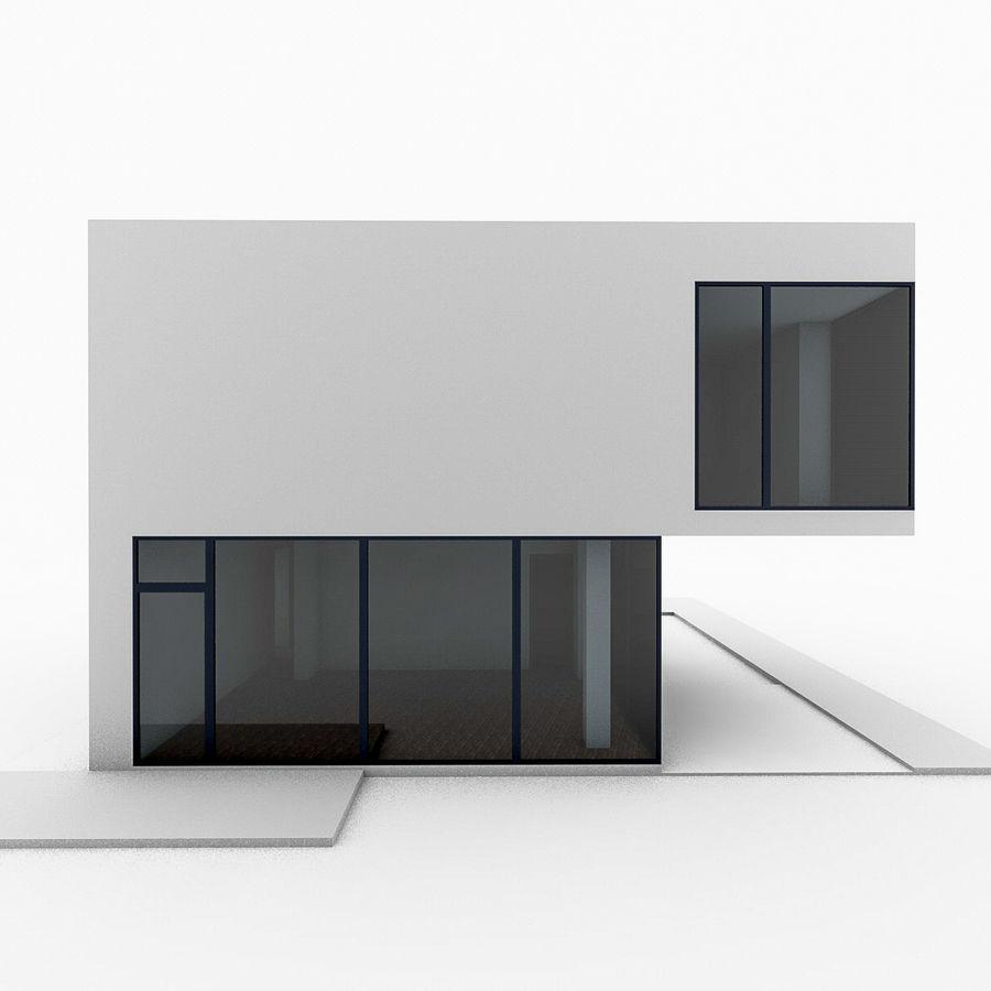 Casa moderna mínima royalty-free 3d model - Preview no. 6