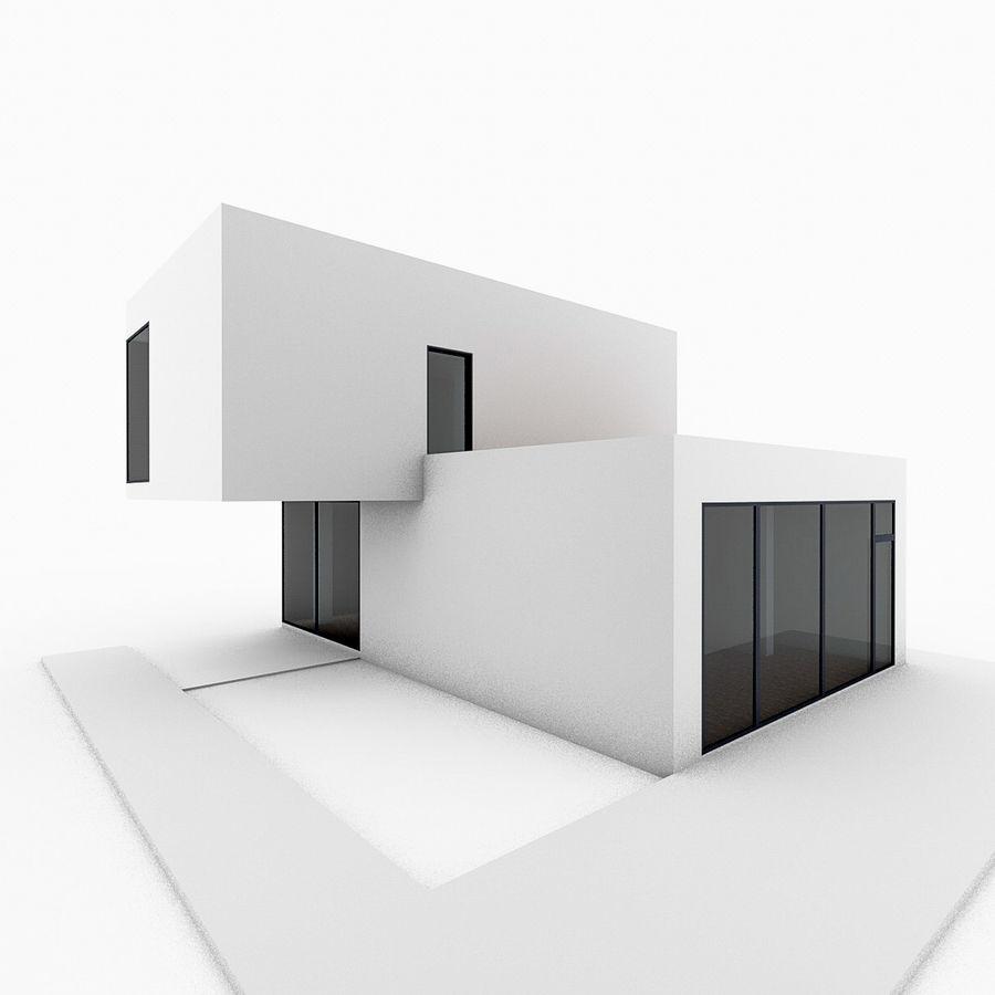 Casa moderna mínima royalty-free 3d model - Preview no. 3