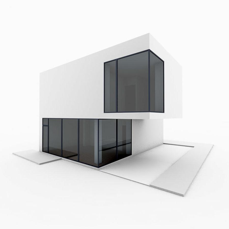 Casa moderna mínima royalty-free 3d model - Preview no. 1