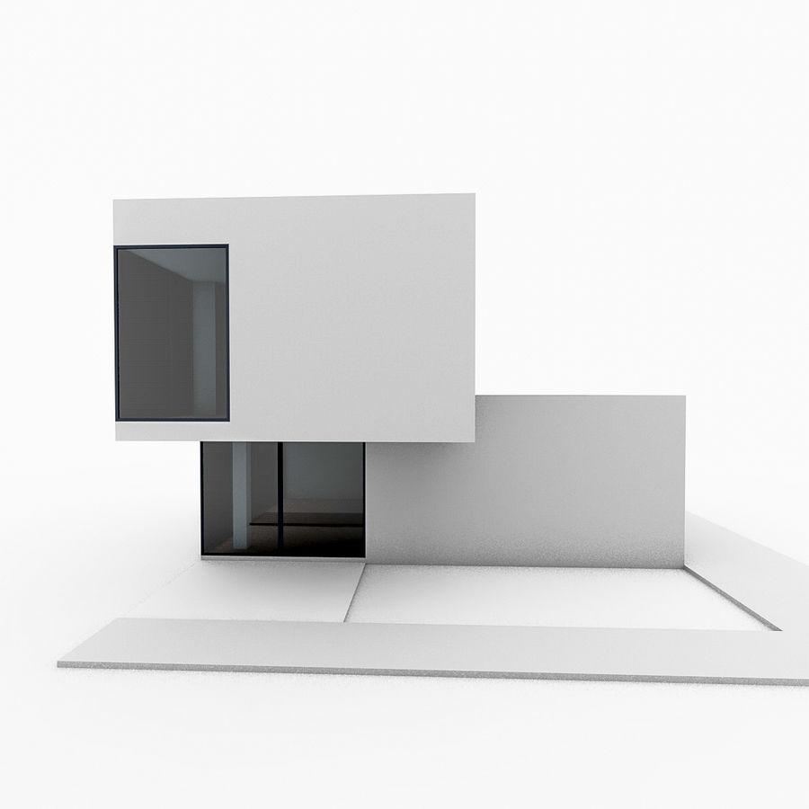 Casa moderna mínima royalty-free 3d model - Preview no. 2