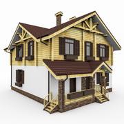Chalet Primitive Maison 3d model