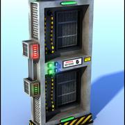 Sci-Fi-machinewand 3d model