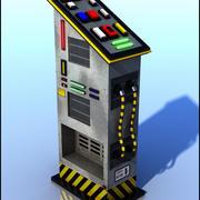 Sci-Fi Панель управления 3d model