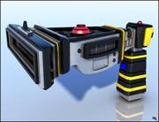 Futurystyczny pistolet laserowy 3d model
