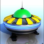 Sci-Fi Flying Saucer 3d model