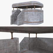 Bunker three full 3d model