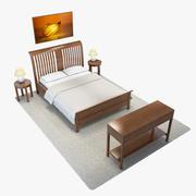 침실 세트 1 3d model