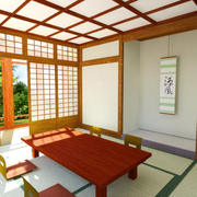 Japanese Home Pagoda Interior 3d model