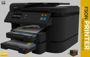 Printer, scanner, kopieerapparaat, fax fson 3d model
