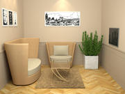 Small Living Room Set 3d model