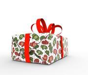 Geschenkverpackung Weihnachten 3d model